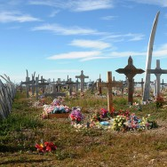 Walfängerfriedhof/Whaler's cemetery, Point Hope, Alaska