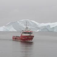 Fishing boat in Uummannaq, Greenland